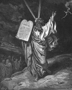 Photo of Moses with 10 Commandments