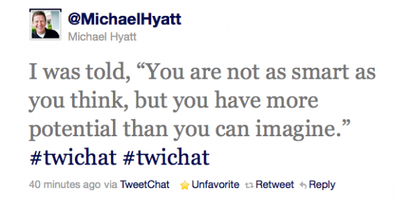 Quote from an interview with Michael Hyatt on Twitter