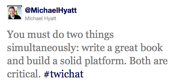 Michael Hyatt Twitter Interview Excerpt
