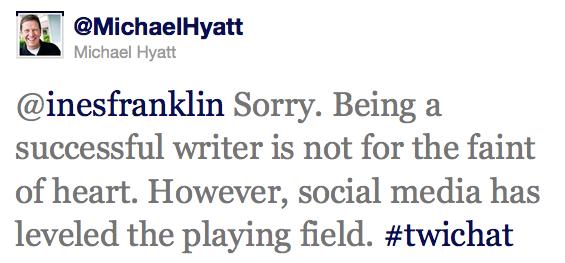 Twitter Interview Quote - Michael Hyatt