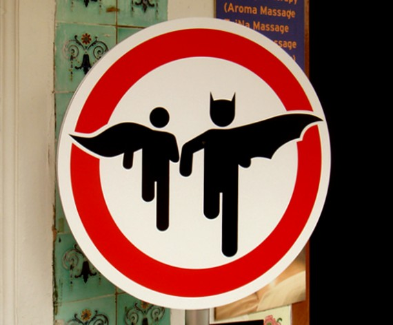 Superheroes Sign
