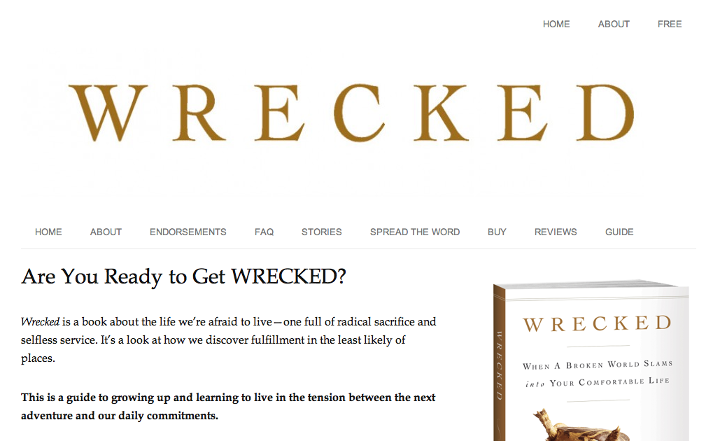 Since launching my book, Wrecked , lots of people have asked me ...: goinswriter.com/book-site