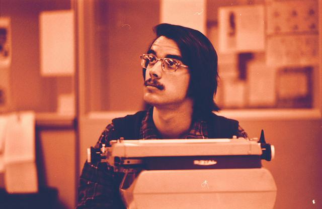 Typewriter man photo