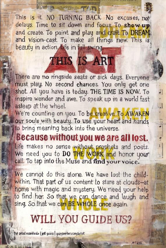 Artist Manifesto