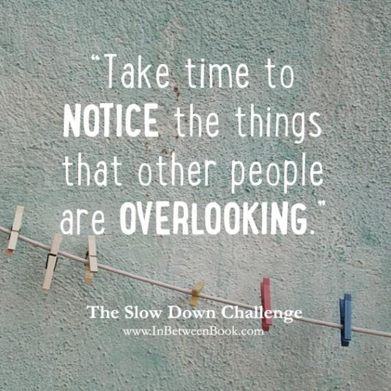 Slow Down Challenge: Notice